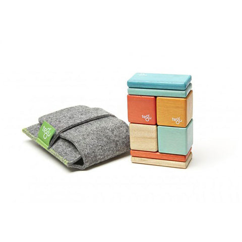 Tegu - Magnetic Wooden Blocks Pocket Pouch in Sunset