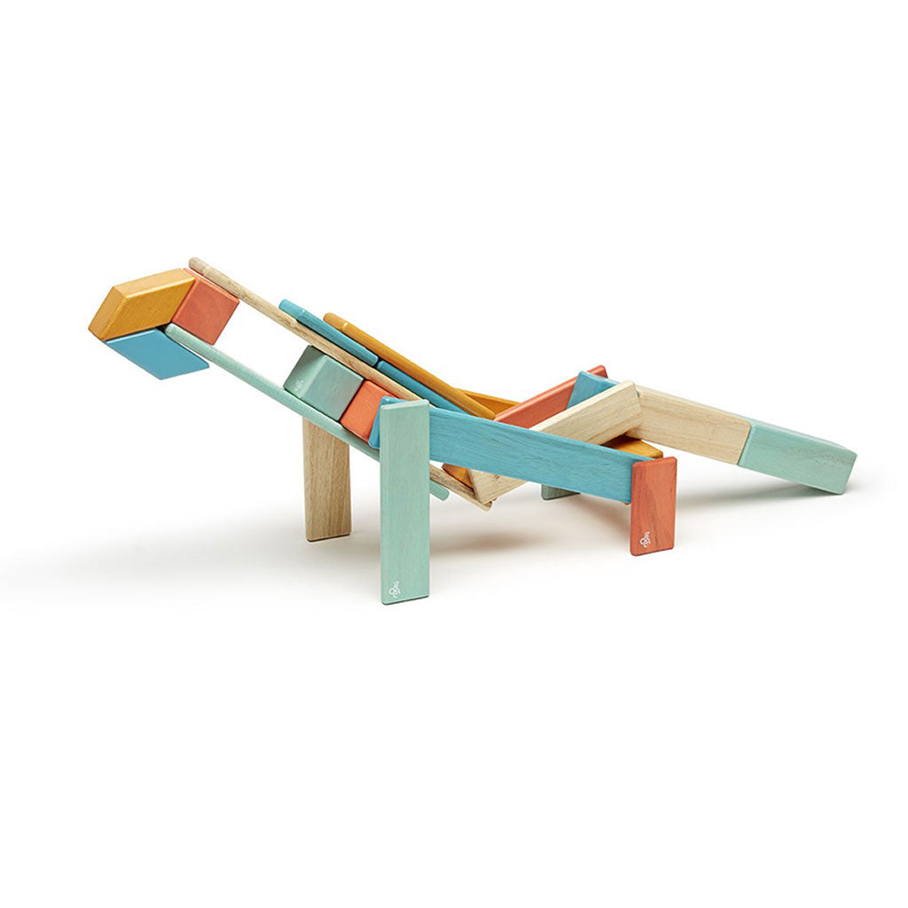 Tegu - Magnetic Wooden Blocks 24 Pc Set in Sunset - Example