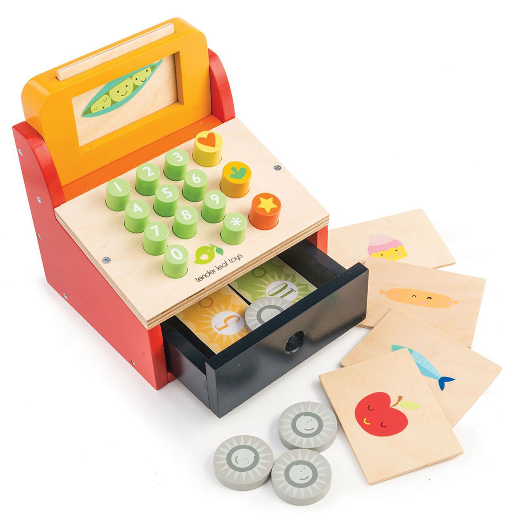 tender leaf toys cash register with money