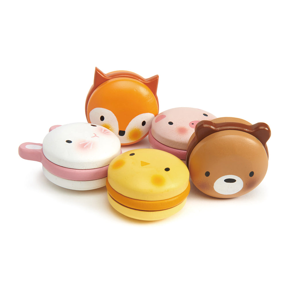 Tender Leaf Toys - Wooden Animal Face Macarons