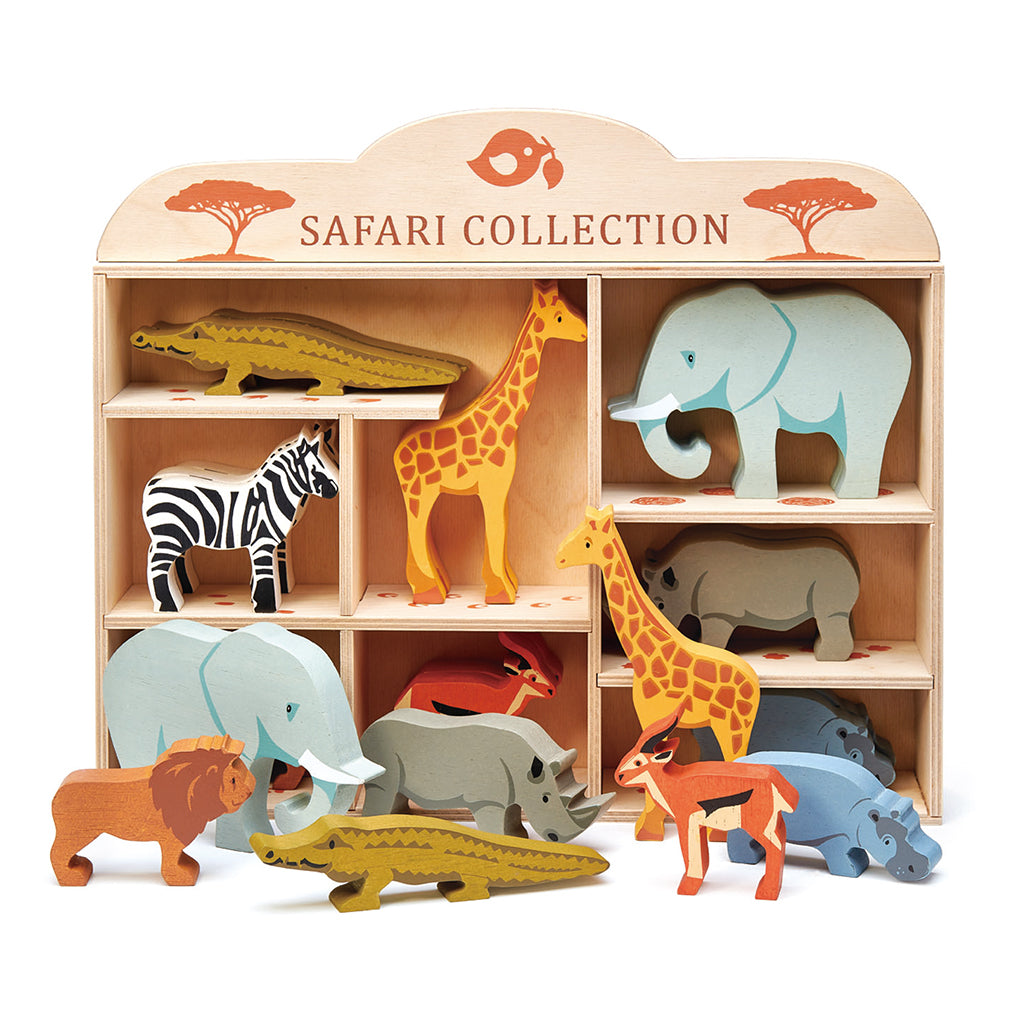 Tender Leaf Toys - Wooden Safari Animals