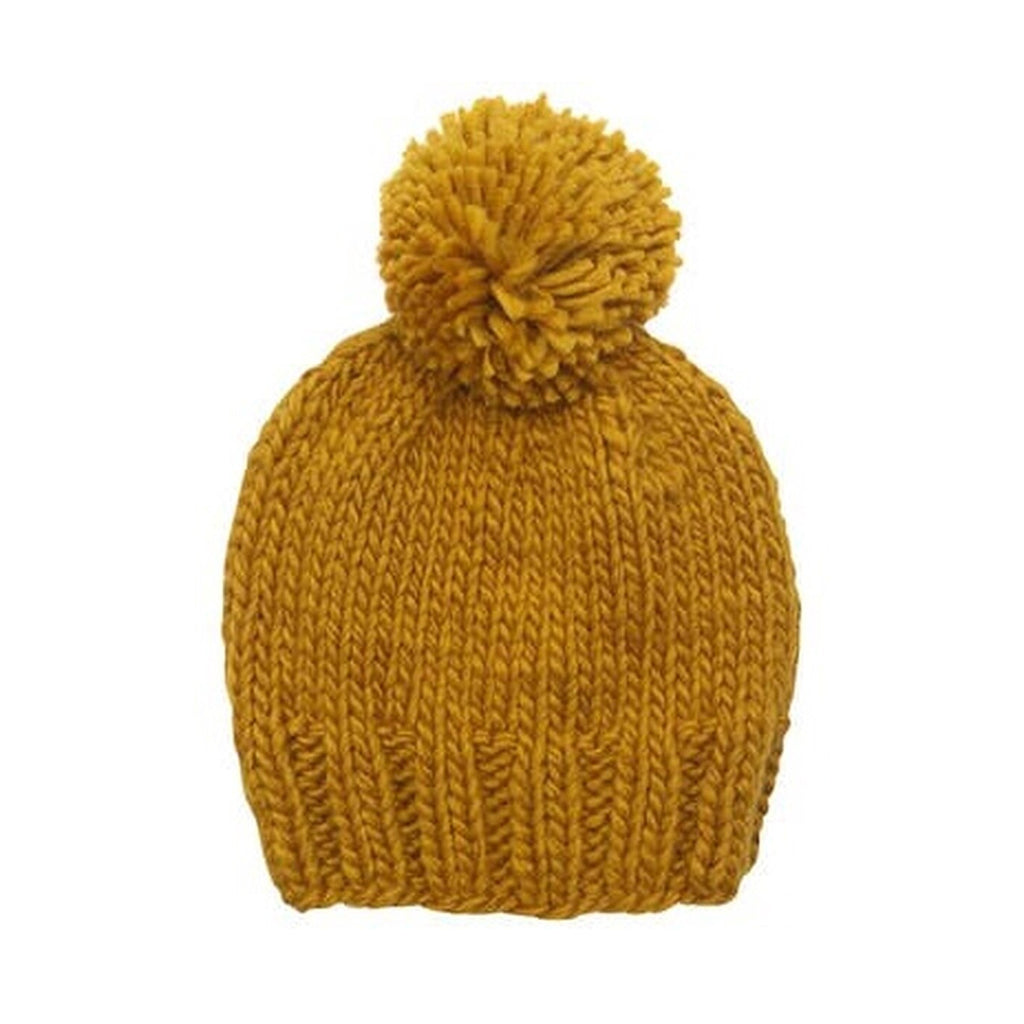 The Blueberry Hill - Single Pom Hat in Mustard | Mapamundi Kids