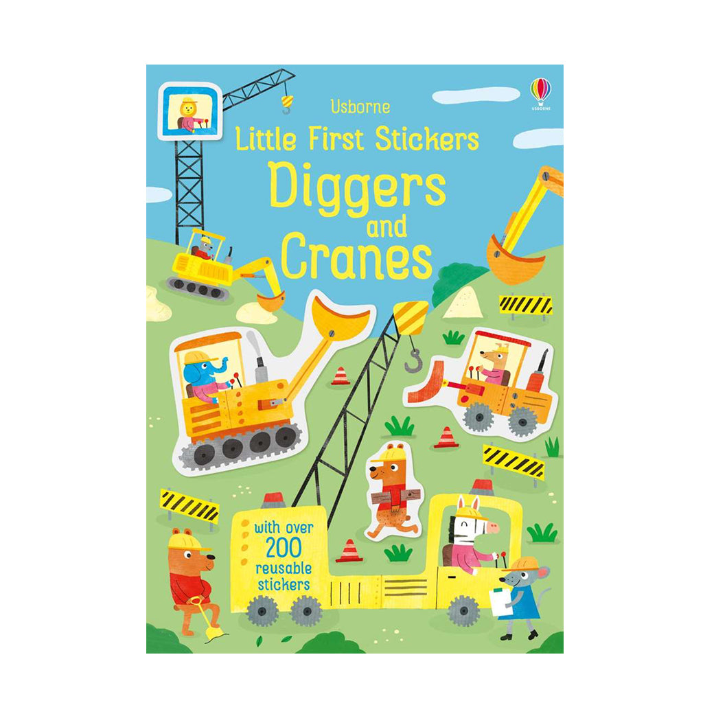 Little Sticker Book: Diggers/Cranes | Usborne