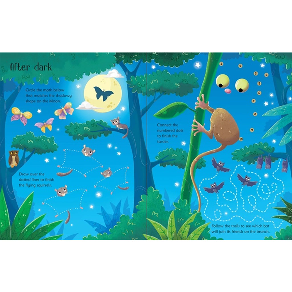 Wipe Clean Jungle Activities | Usborne