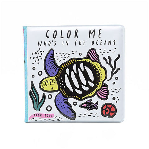 Wee Gallery - Color Me Bath Book: Who's in the Ocean?
