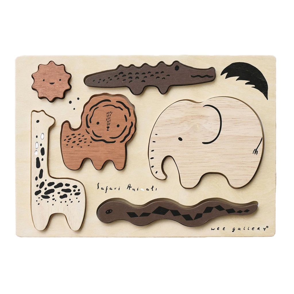 Wee Gallery - Wooden Tray Puzzle - Safari | Mapamundi Kids