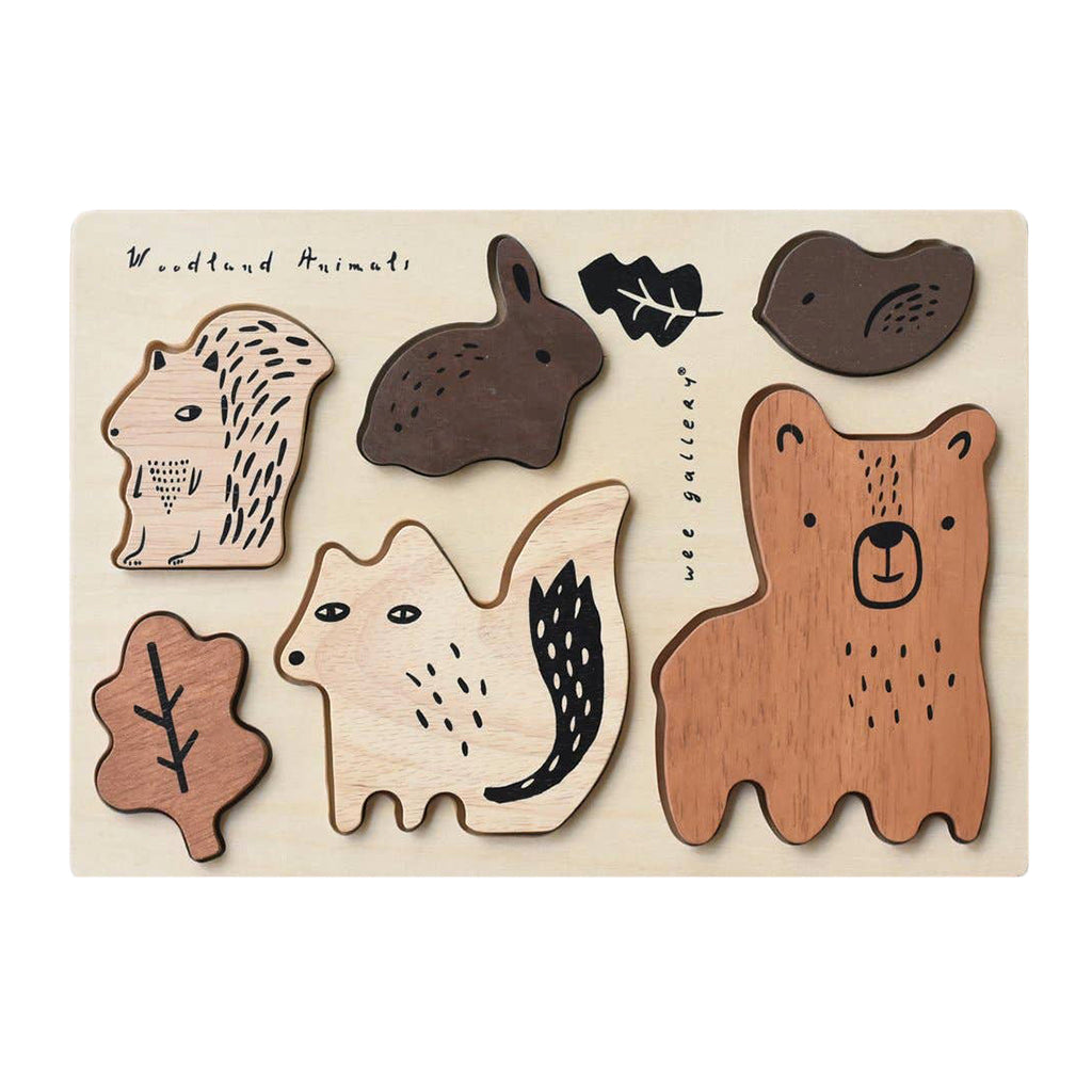 Wee Gallery - Wooden Tray Puzzle: Woodland Animals | Mapamundi Kids