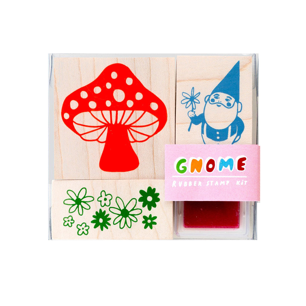 Yellow Owl Workshop - Gnome & Mushroom Small Stamp Kit | Mapamundi Kids