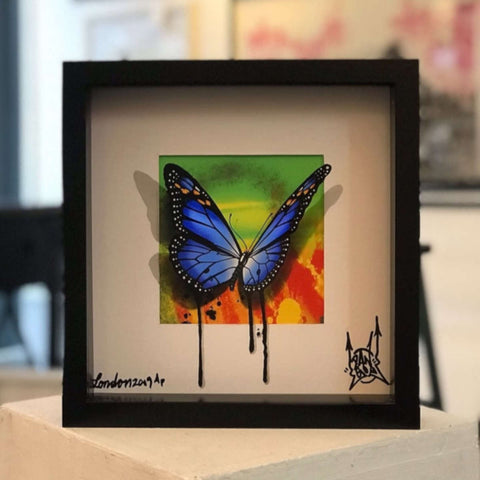Graffiti Butterfly / Blue