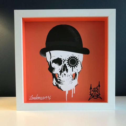 Orange Clockwork Skull