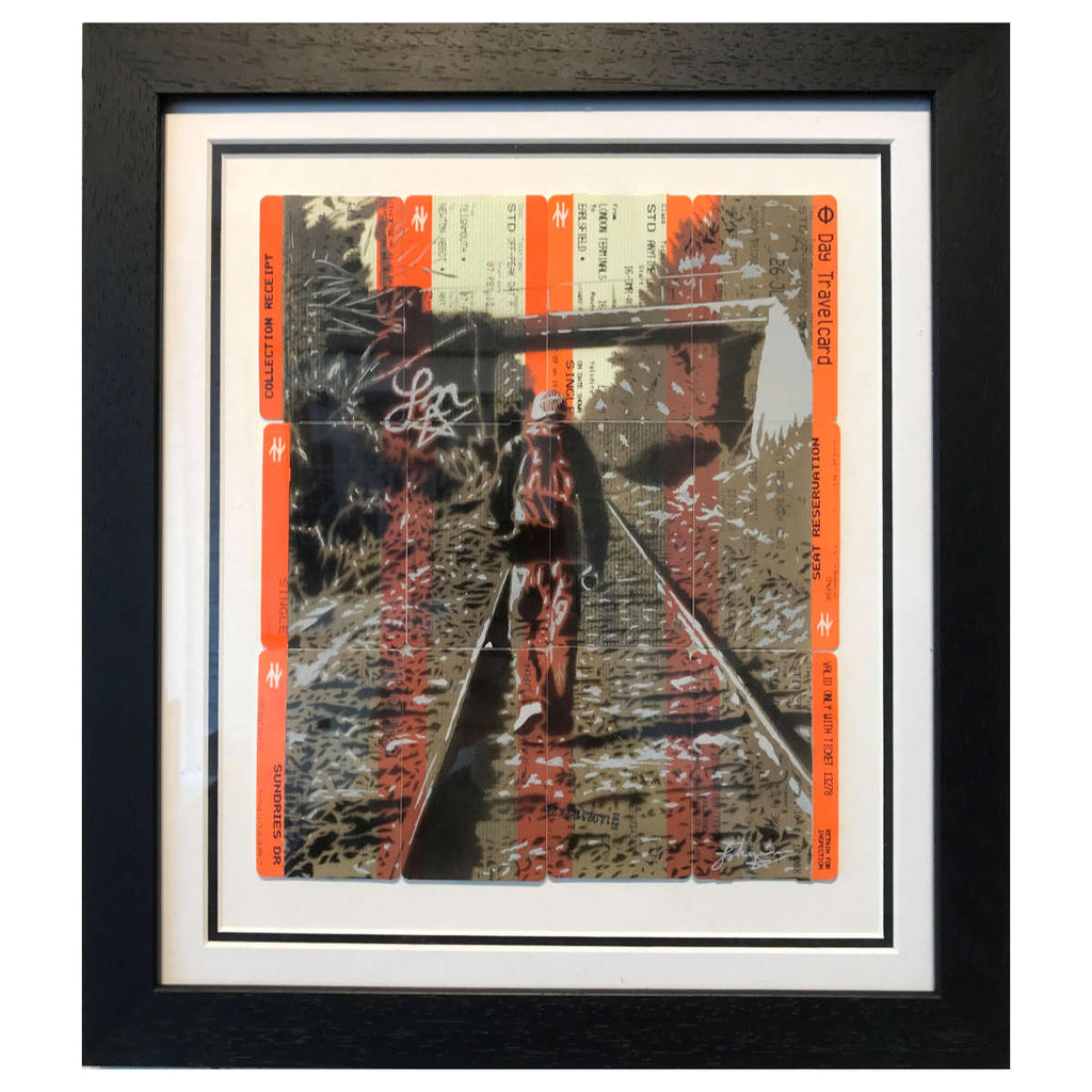 Johnman - The Writer - Original Spray Paint and Ink on Used Train ...