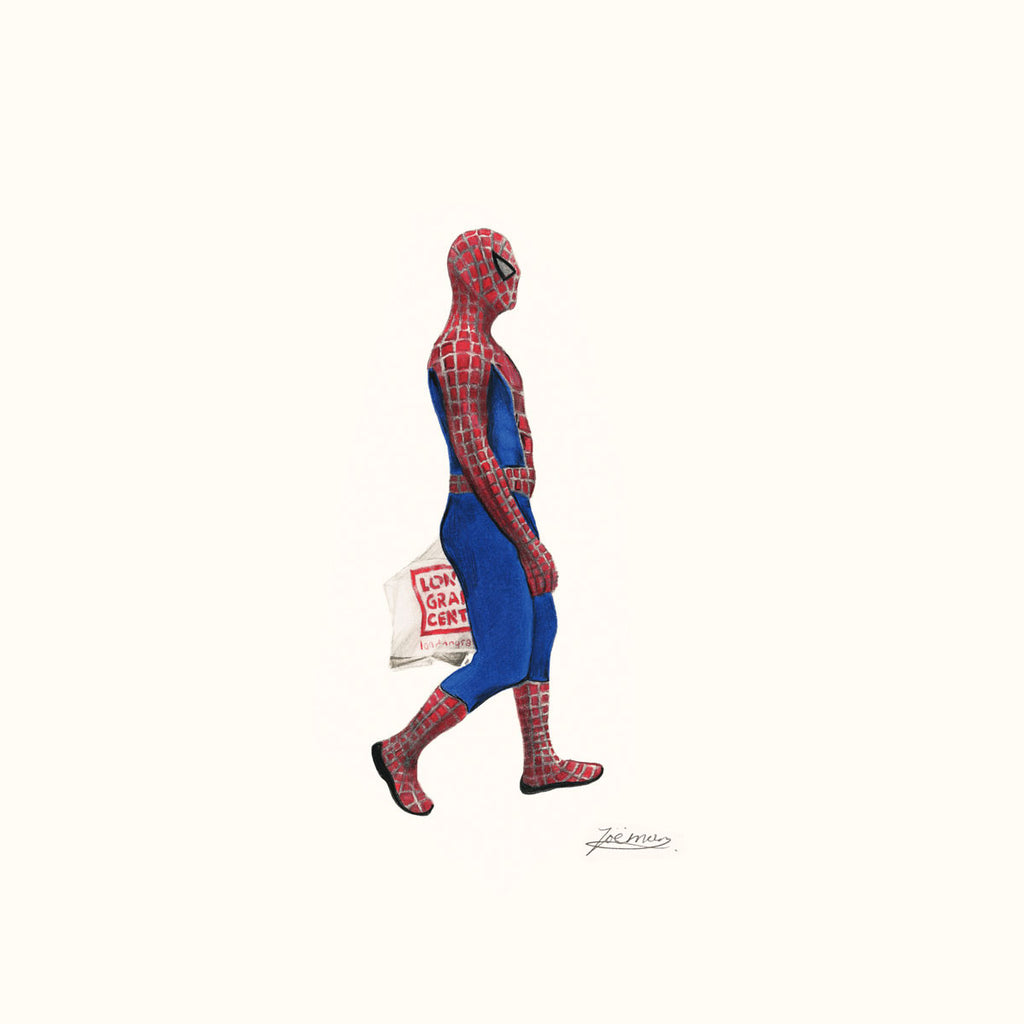 Zoe Moss Print, Spiderman