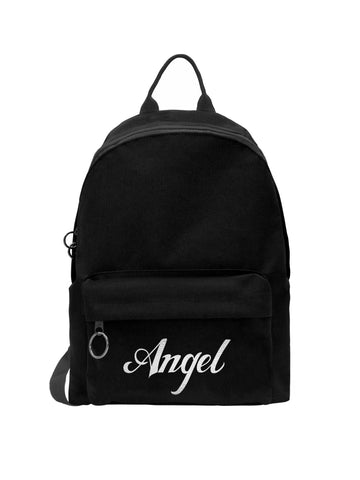 Angel Gothic Metallic Print Backpack