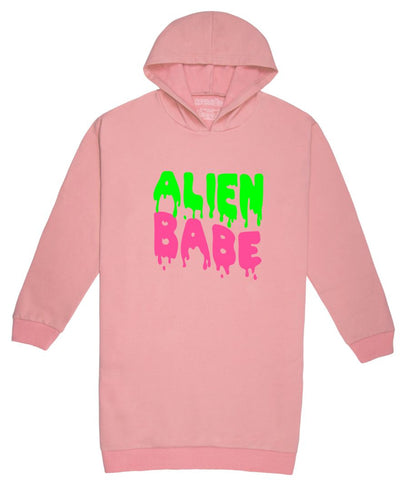 Alien Babe Hoodie Sweater Dress
