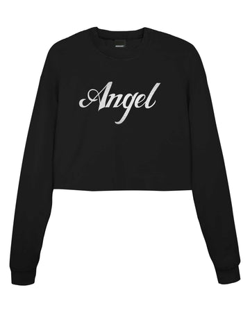 Angel Gothic Cropped Sweater