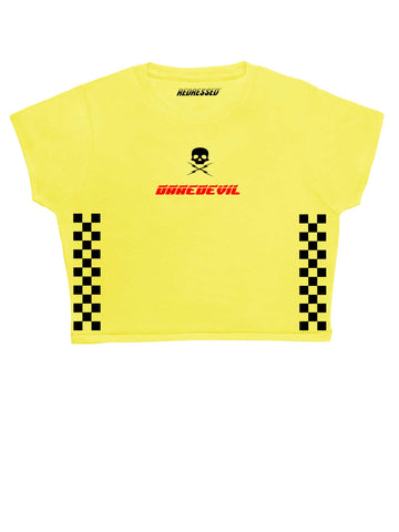 Daredevil Checkered Crop Top