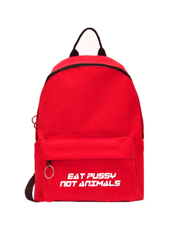 Eat Pussy Not Animals Backpack