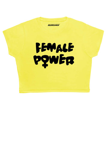Female Power Crop Top