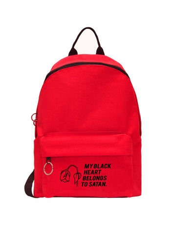 My Black Heart Belongs To Satan Backpack