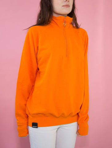 Orange O-Ring Zip-up Sweatshirt
