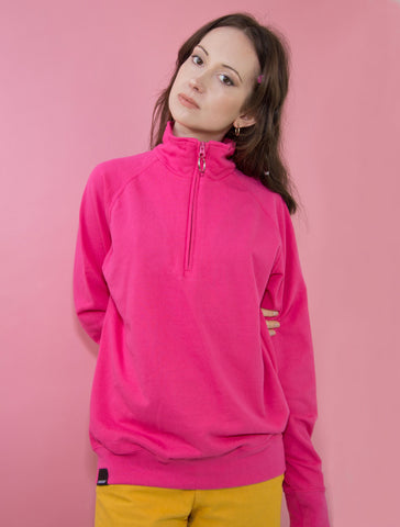 Pink O-Ring Zip-up Sweatshirt