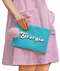 Personalized Pom-Pom Clutch - tell us your CUSTOM NAME in checkout notes.