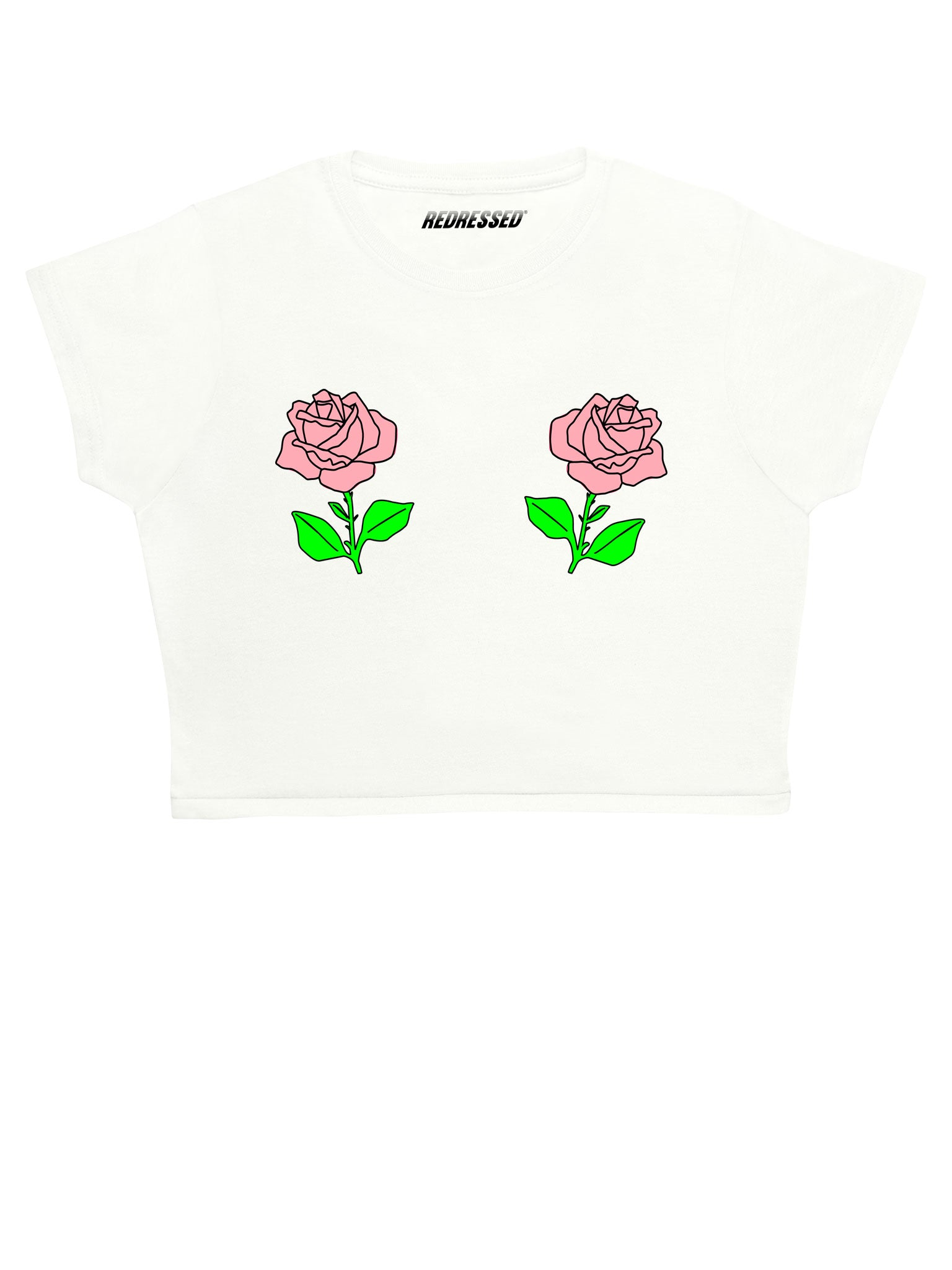Baby Pink Rose Crop Top
