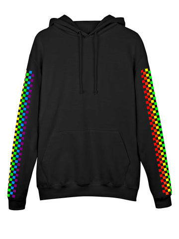 Rainbow Babe Checkered Hoodie