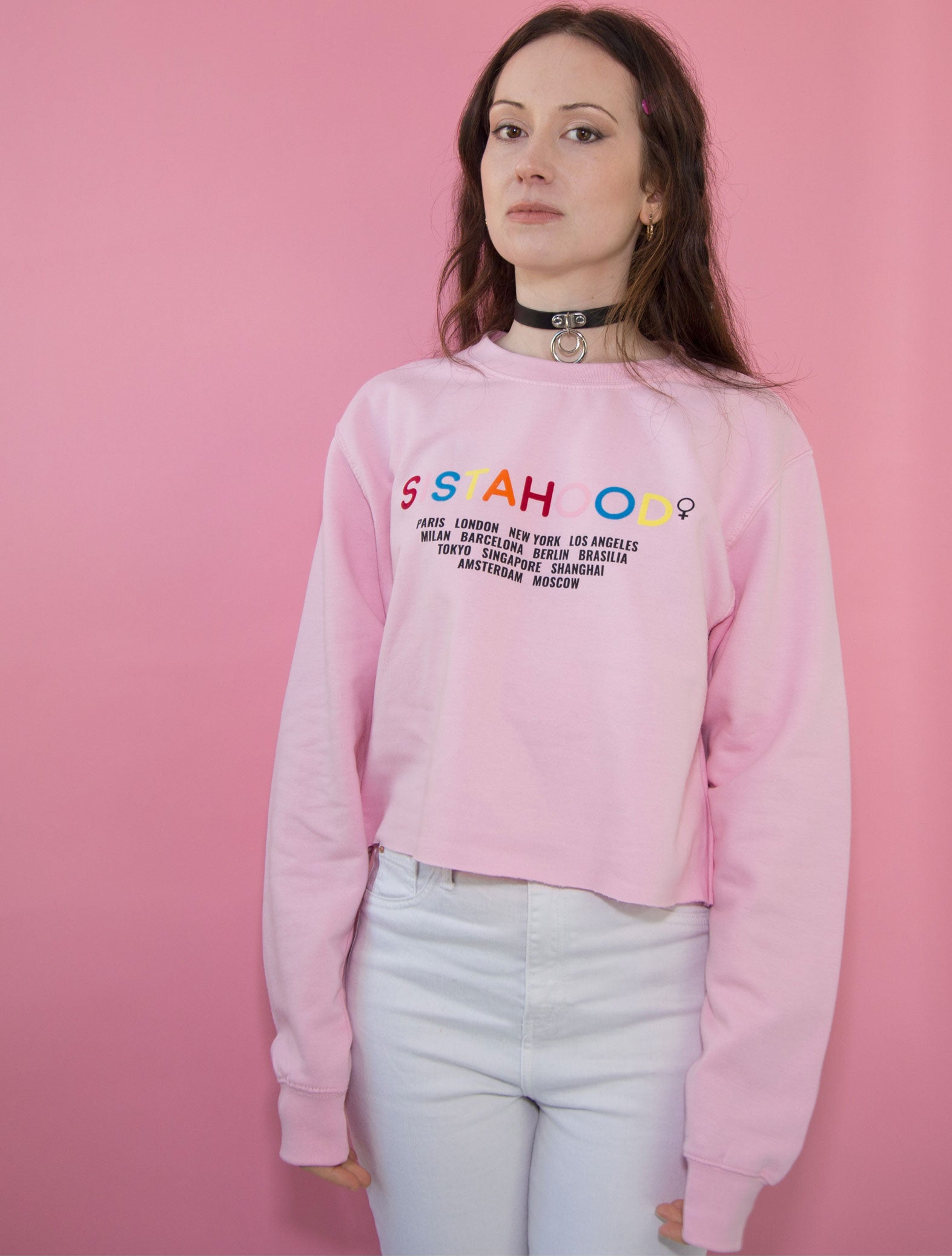 Sistahood Crop Sweater