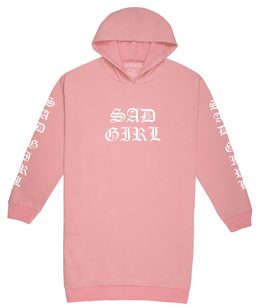 Sad Girl Hoodie Sweater Dress