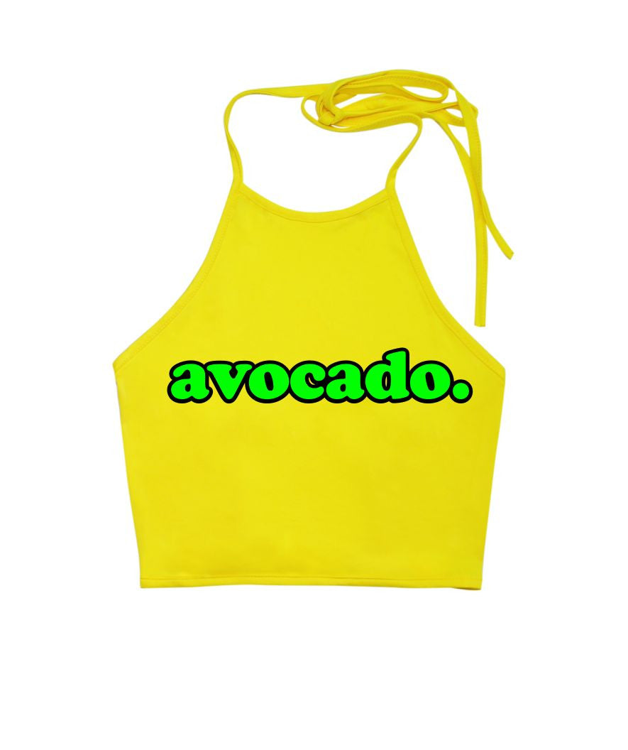 Avocado Halter Top