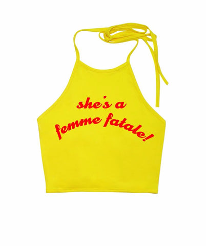 She's a Femme Fatale Halter Top