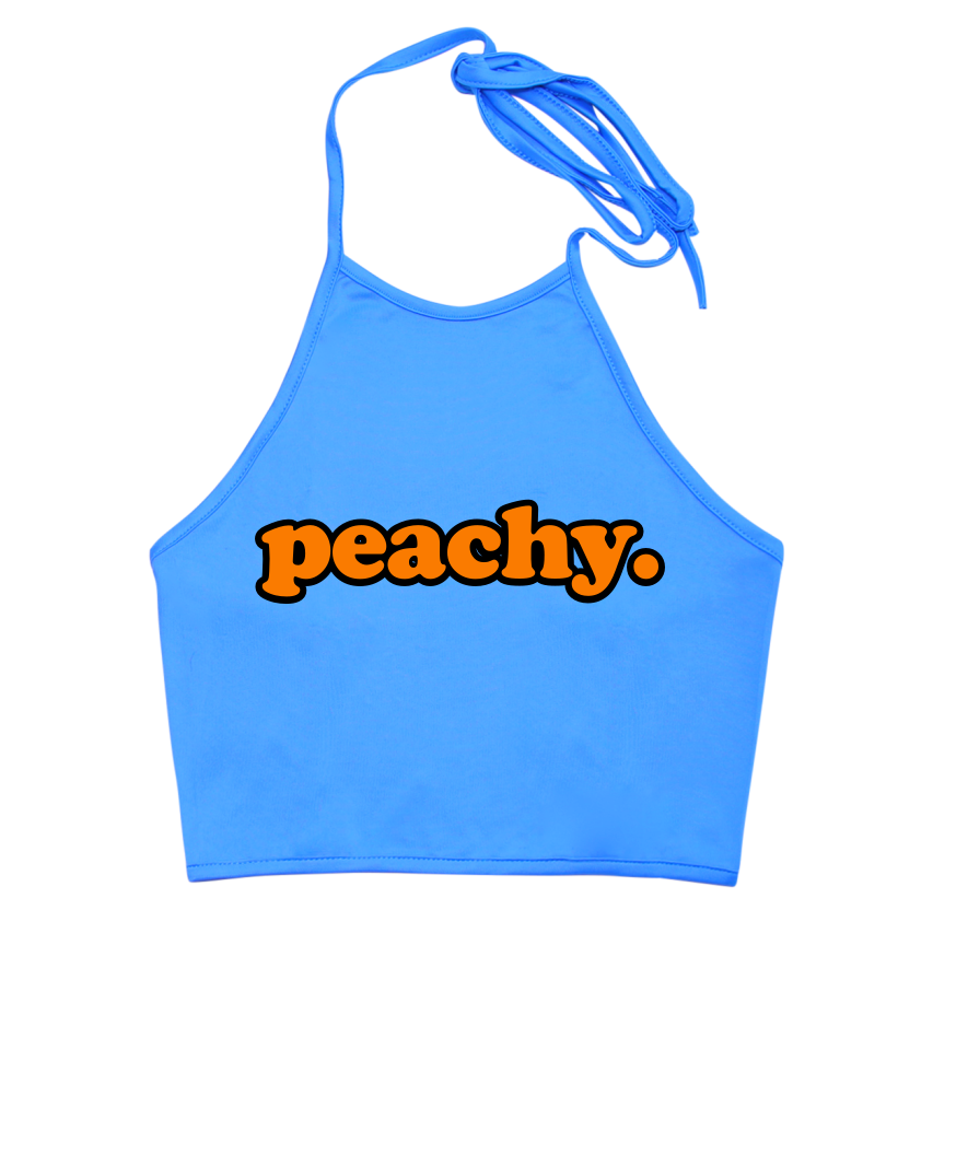Peachy Halter Top
