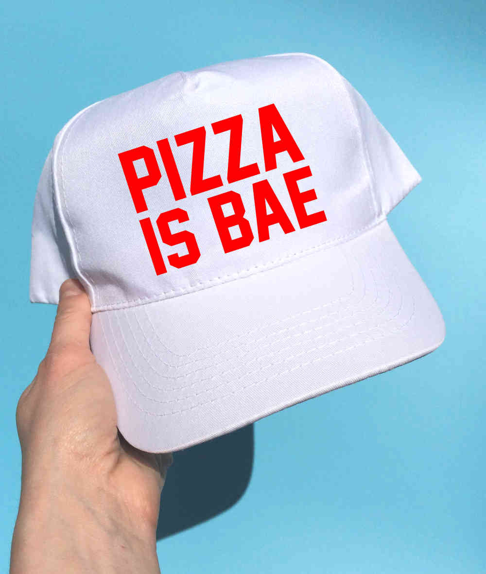 PIZZA IS BAE BASEBALL CAP