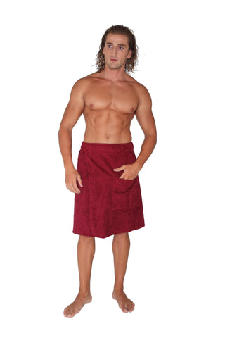 Men's Organic Turkish Cotton Spa Wrap Towel
