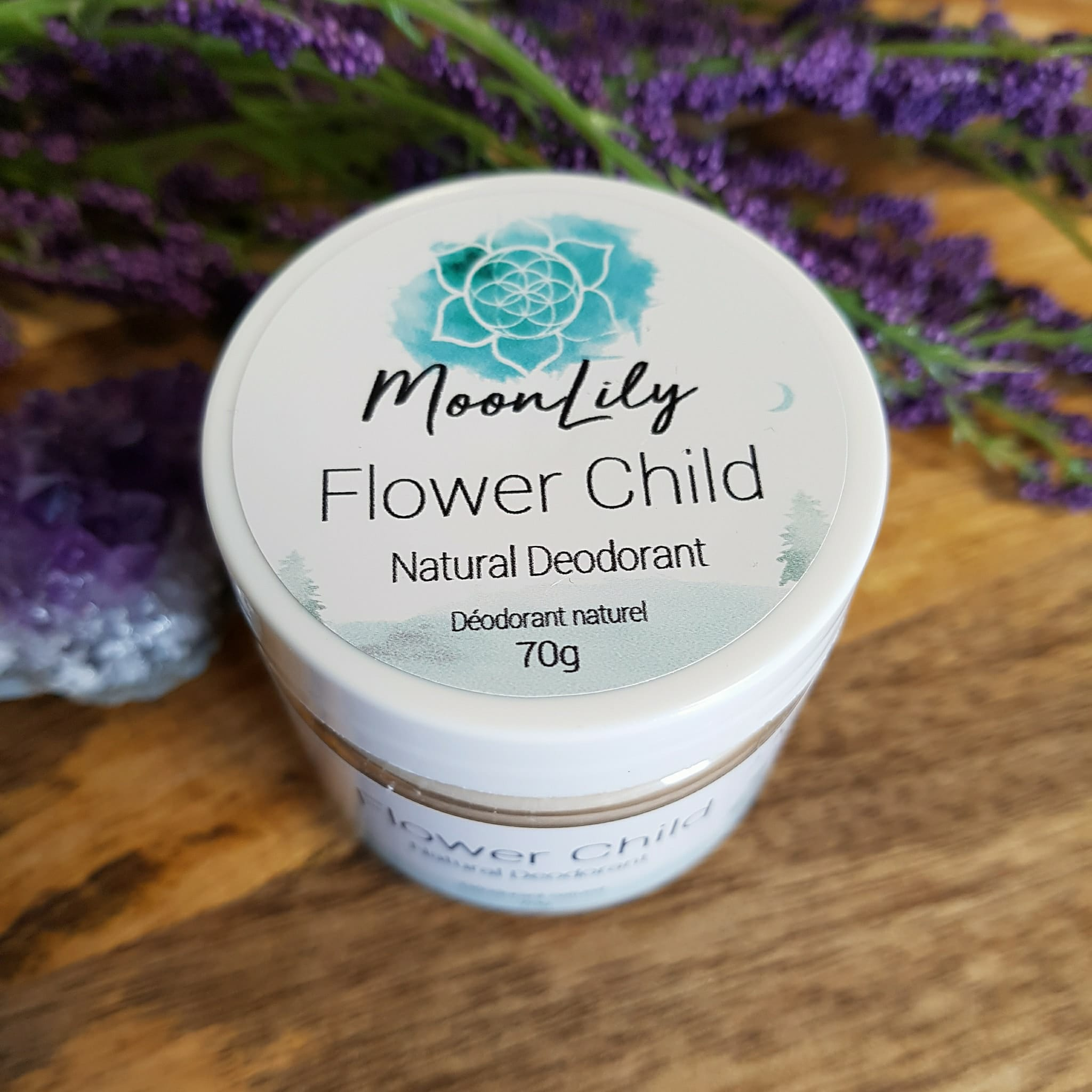 Natural Deodorant Flower Child Moonlily Wellness