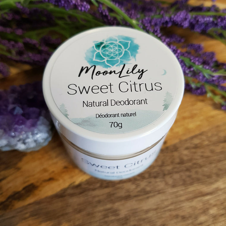 Natural Deodorant ~ Sweet Citrus