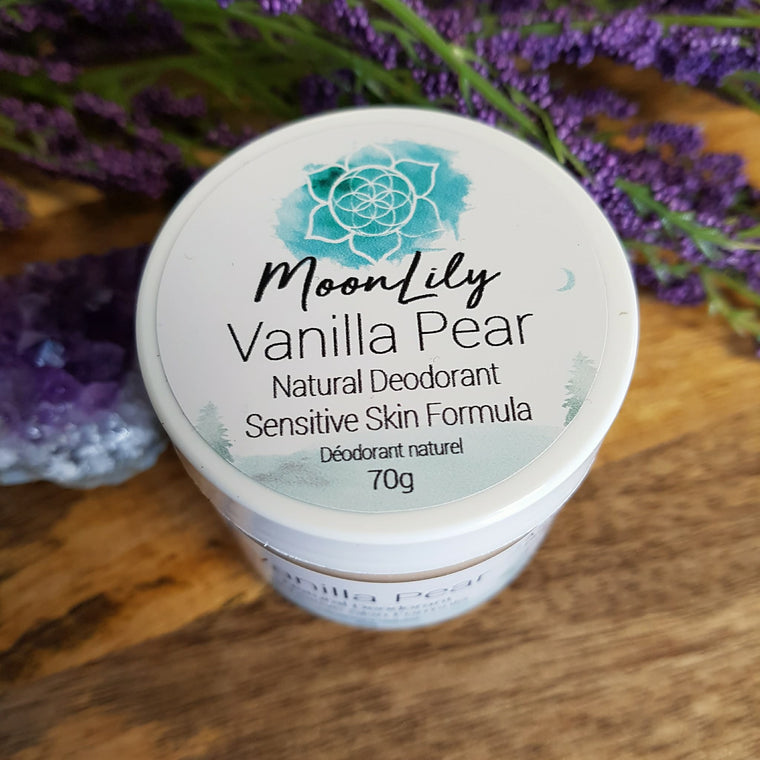 Natural Deodorant~ Vanilla Pear (Sensitive Skin)