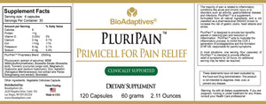 PluriPain™ ingredients for safe pain relief for soar, aching bodies