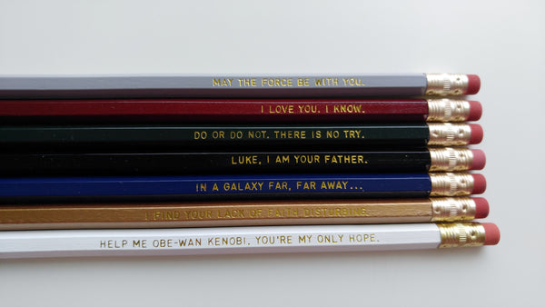 Star Wars Engraved Pencil Set Star Wars Gift Gold Foil Pencil Set Engraved Pencils Funny Pencils