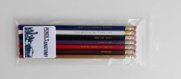 Greys Anatomy Engraved Pencil Set Youre My Person Nurse Gift Gold Foil Pencil Set Funny Pencils