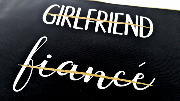 Future Mrs Canvas Clutch Wife Clutch Purse Makeup Bag  Girlfriend Fiancé Wife Bride To Be Gift