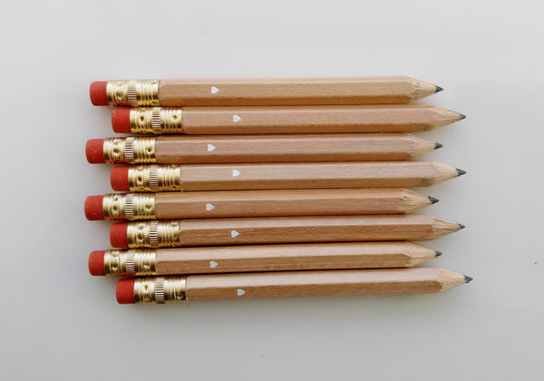 Rustic Wedding Natural Mini Pencil Set Wedding Favor Country Wedding Bridal Shower Favor
