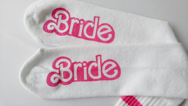 Bride Socks Knee High Wedding Socks Bachelorette Party Gift for Bride Bridal Shower