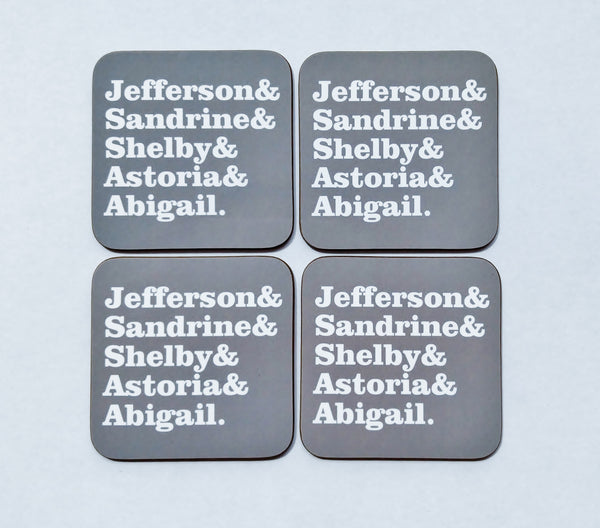 Housewarming Gift Personalized Family Name Family Gift Coaster Set Custom Coaster Set Hostess Gift