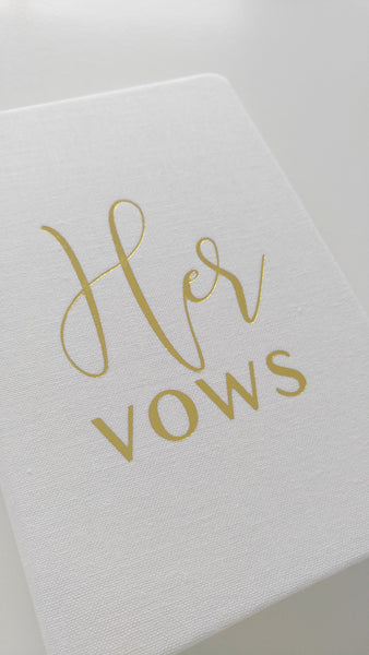 His and Hers Personalized Wedding Vow Books for the Bride and Groom Set of Two Wedding Vows Journal Keepsake Pocket Journal Custom Journal