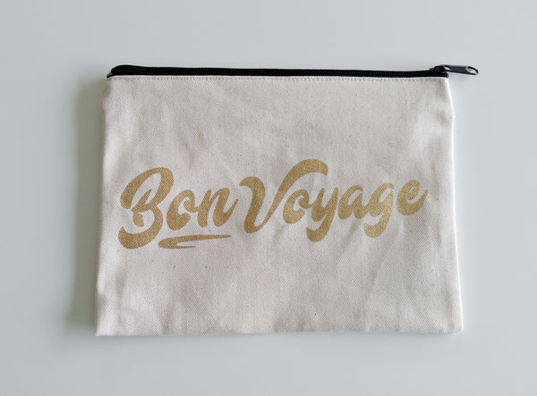 Bon Voyage Pouch Honeymoon Gifts Passport Holder Passport Case Passport Wallet Travel Accessories Traveler Gifts Travel Gift Wanderlust