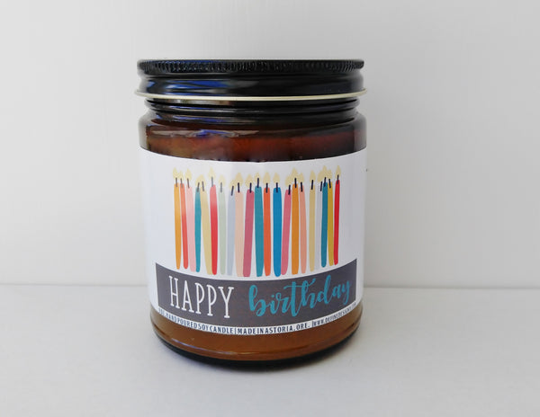 Happy Birthday Candle Gift Birthday Gift Birthday Cake Scented Candle 30th 40th 50th Birthday