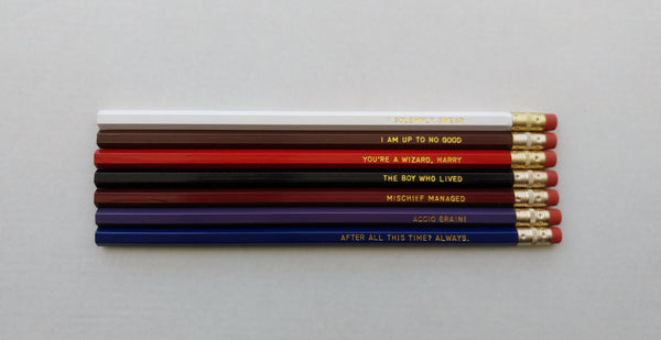 Harry Potter Gift Engraved Pencil Set Gold Foil Pencil Set After All This Time Always