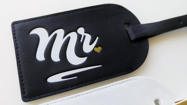 Mr and Mrs Luggage Tags Bride and Groom Luggage Tags Honeymoon Luggage Tags Bridal Shower Gift Wedding Gift for Couple Mr and Mrs Gift